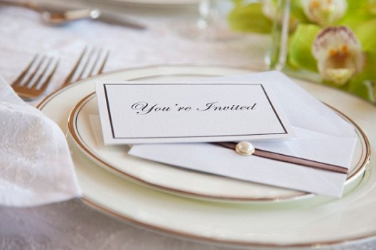 Invitation on plate