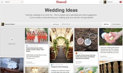 Wedding ideas board